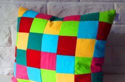 Patchworkowa kolorowa poduszka