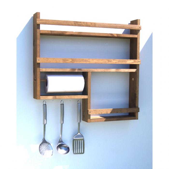 Półka Do Kuchni Z Drewna Na Przyprawy