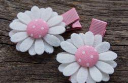 Spinki do włosów kwiatki PEONY PINK