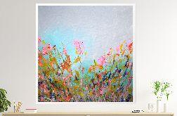 Obraz na płótnie ręcznie malowany 70x70