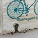Wieszak  na klucze Niebieski rower