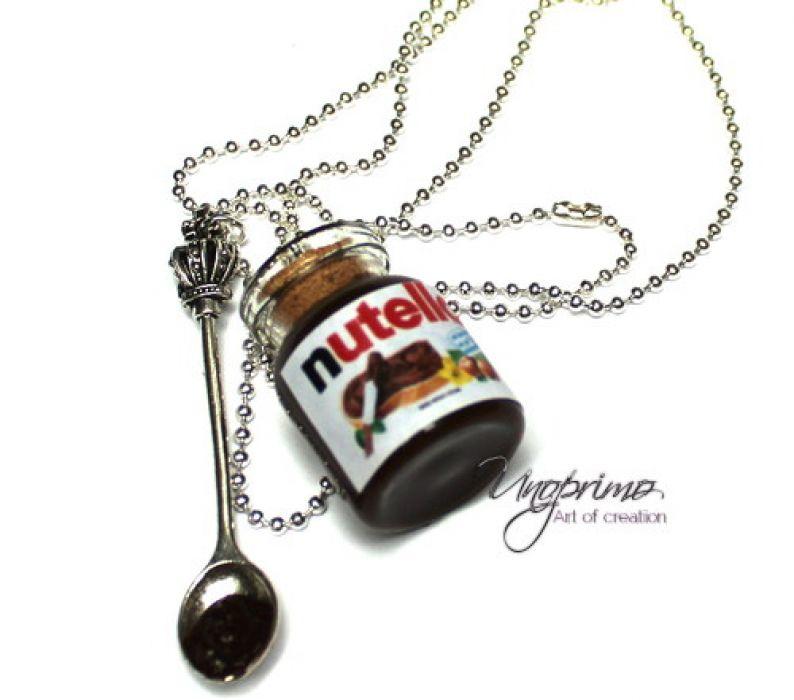 Naszyjnik Słoik Nutella z łyżeczką