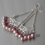 Sadalsuud - kolczyki z perłami i kryształami