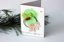 Kartka świąteczna z pierniczkami
