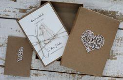 Kartka na ślub z życzeniami z pudełkiem
