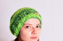 zielona ciepła czapka