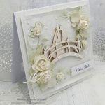 Młoda Para na mostku - kartka ślubna