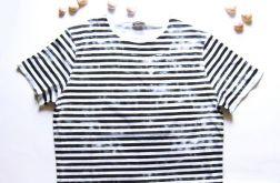 XXL-Koszulka w paski z efektem przetarcia