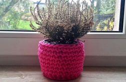 Koszyczek bawełniany różowy 02