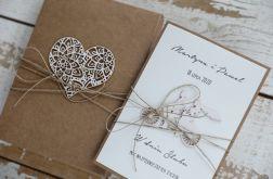 Oryginalna kartka ślubna i pudełko 4o