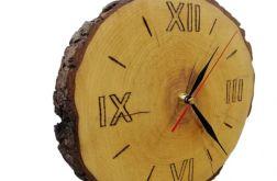 Zegar ścienny drewniany plaster drewna