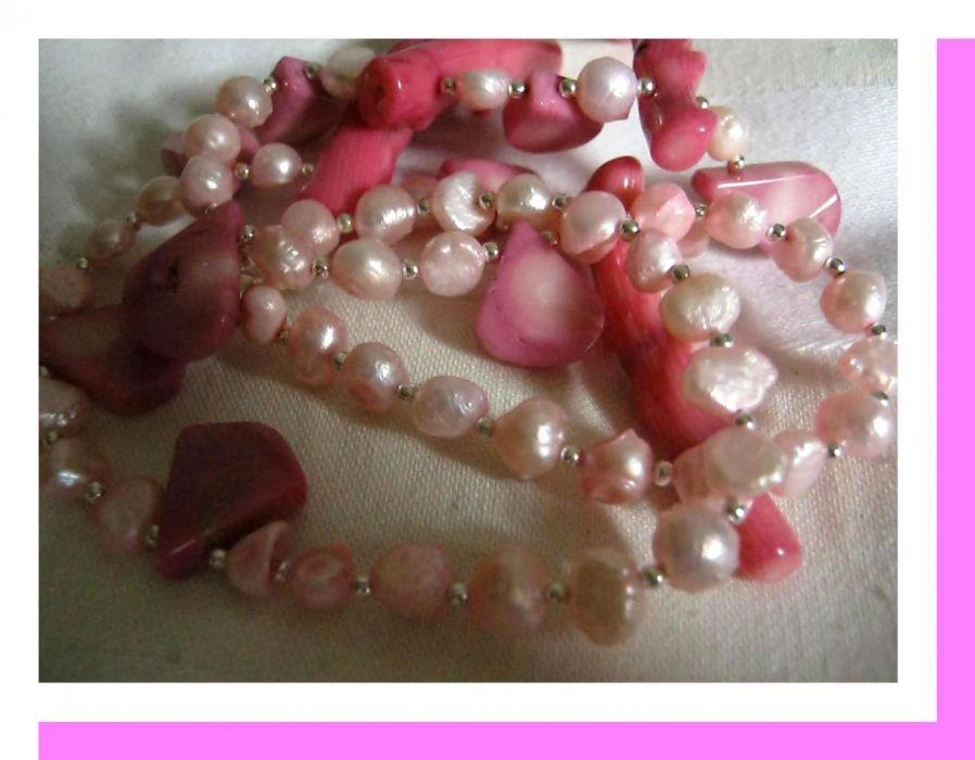 Różowe perły i koral - interesujący duet w srebrze