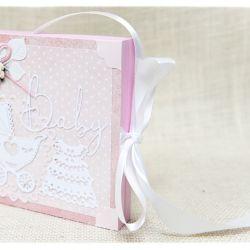 Chrzest Św. Pudełko w formie kartki Baby Girl