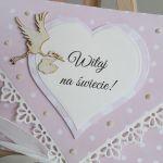 Kartka z okazji narodzin dziewczynki - kopertówka