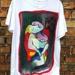 koszulka t shirt recznie malowany picasso
