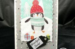 Kartka z pingwinkiem