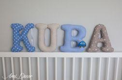 Literki KUBA - zamówienie dla Pani Ewy