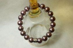 58. Bransoleta z pereł szklanych 10mm
