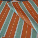 Bieżnik na stół - zielono-rude pasy - 40 x 138 cm