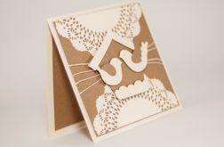 zakochane ptaszki - kartka ślubna
