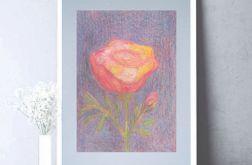 Rysunek kwiat na szarym tle nr 5