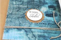 Ślubna kartka z mapą dla podróżników