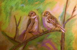 Ptaki pastel 1