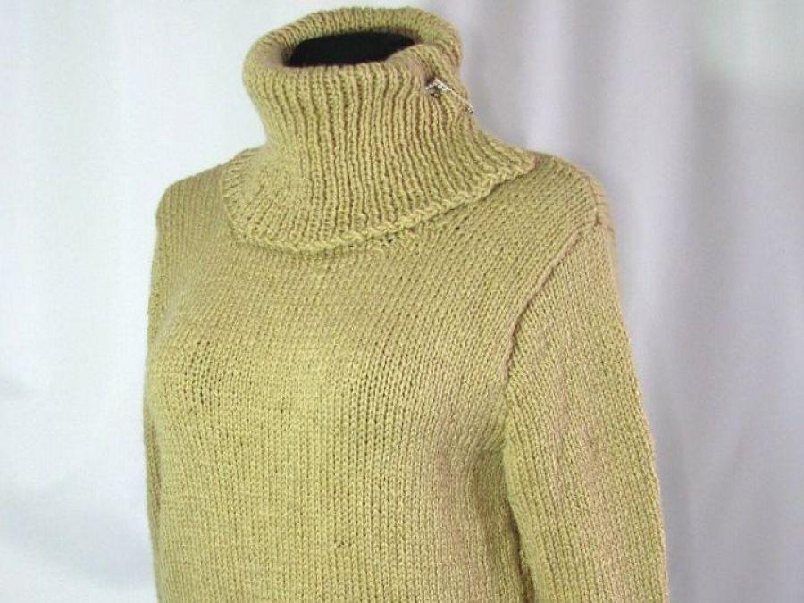 Sweter z  norweskim szlaczkiem - golf