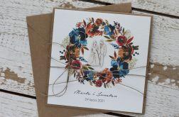 Kartka ślubna z kopertą - życzenia i personalizacja 1n