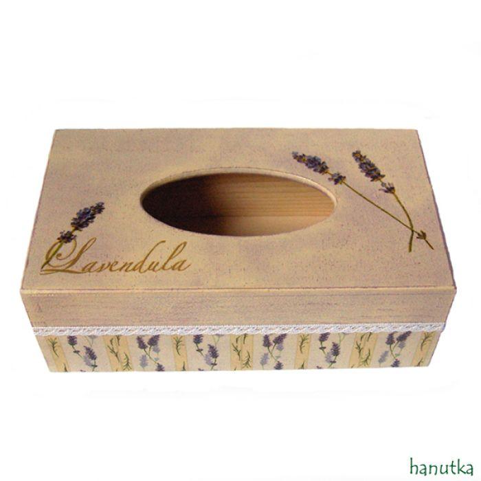 LAVENDULA - pudełko na chusteczki