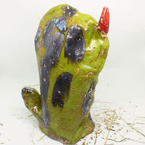 Figurka kaktus-OPUNCJA ręcznie robiona unikat
