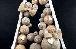 Skandynawska choinka drewniana w brązach LED