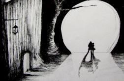 "Rysunek piórkiem ""Księżyc"""