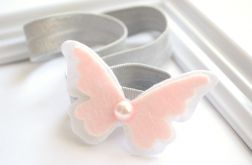 FairyBows * opaska * motylek z perełką