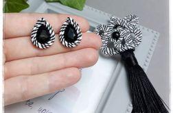Wisior sutasz #15 chwost Zebra, czarno biały