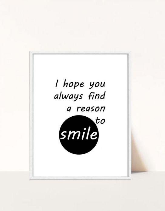 Plakat z hasłem SMILE