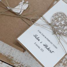 Oryginalna kartka ślubna i pudełko 4p