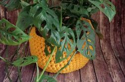 Koszyk ze sznurka bawełnianego żółty 3szt.