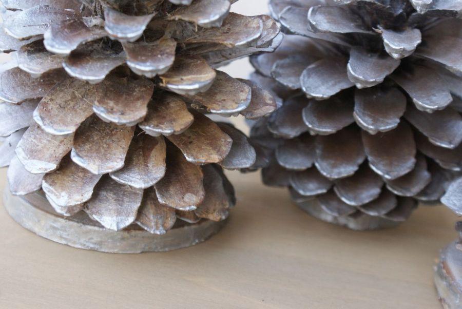 Szyszki ozdobne srebrne
