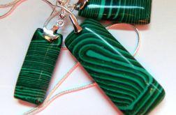 Zielony malachit, prostokąty,elegancki zestaw