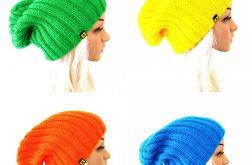 komplet kolorowych czapek unisex