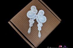 Kolczyki ślubne ivory/ śmietankowa biel