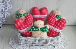 Bombki zawieszki świąteczne serca ciastka GOT