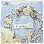 Kartka ślubna z gołąbkami vol.88 - kartka na ślub