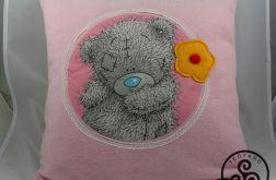 Poduszka różowa z misiem. 02