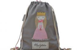 plecak worek księżniczka z imieniem dziecka