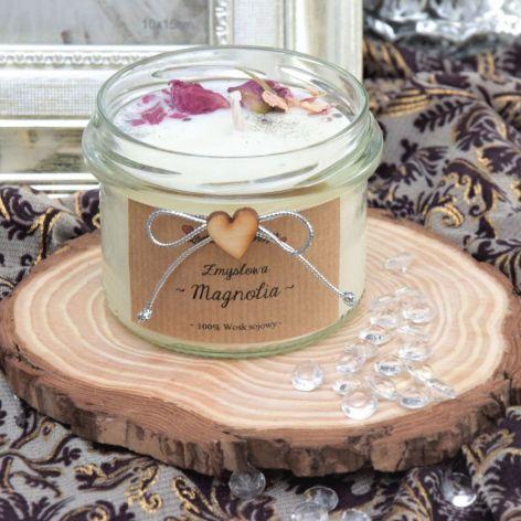 """Zapachowa świec sojowa """"Zmysłowa magnolia"""" M"""