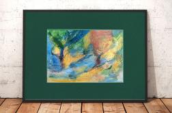 ręcznie malowany obraz, pejzaż kolor szkic