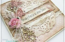 Romantyczna kartka na Ślub z motylkami