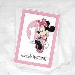 kartka na roczek z myszką Minnie UDP 001 - Kartka na urodziny roczek z myszką Minnie(2)
